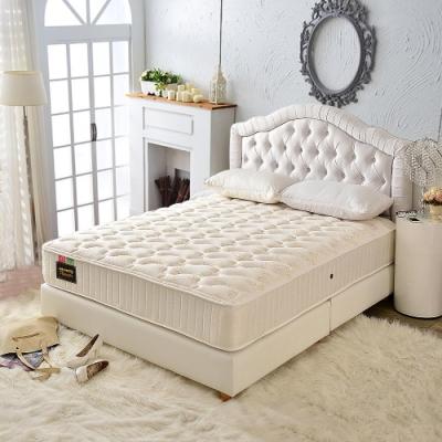 雙人加大6尺 飯店用透氣+乳膠抗菌+側邊強化-護腰型麵包床-硬式獨立筒床墊-Ally愛麗