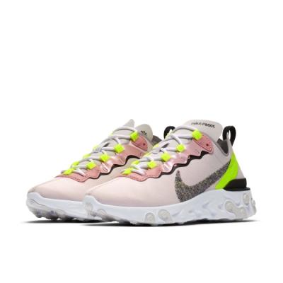 NIKE 慢跑鞋 運動  輕量 避震 球鞋 女鞋 粉 CD6964600 React Element 55