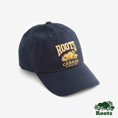 ROOTS 配件- 經典LOGO棒球帽-藍