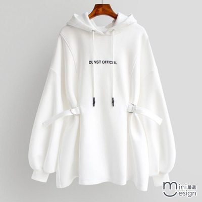 Mini嚴選- 收腰加絨長袖上衣 四色