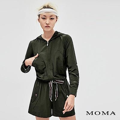 MOMA 連帽織帶縮腰連身短褲