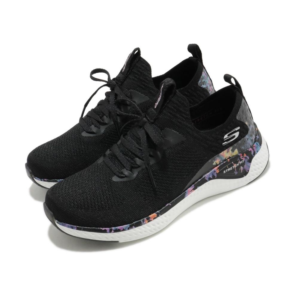 Skechers 休閒鞋 Solar Fuse 寬楦 襪套式 女鞋 輕量 避震 緩衝 回彈 記憶鞋墊 渲染 黑 紫 149602BKPR