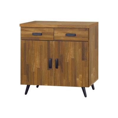 Boden-杰恩2.7尺工業風收納餐櫃/碗盤櫃/電器櫃-81x40x78cm