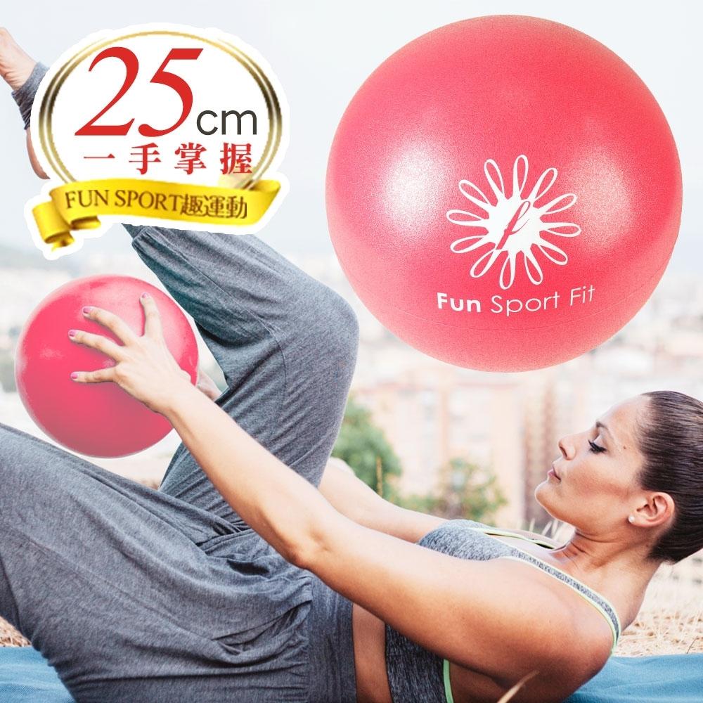 FunSport yoga 小麗莎瑜珈極球25cm-紫(吸管式-2顆)