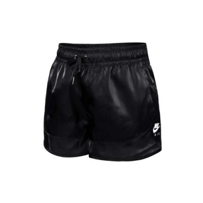 NIKE 女運動短褲-慢跑 路跑 絲質 三分褲 休閒 膝上 光澤感 CU5521-010 亮面黑