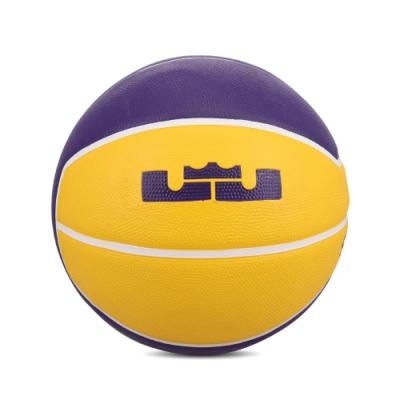 Nike 籃球 Lebron Playground 4P 7號球 室內外 橡膠材質 耐磨 水泥地 黃 紫 N000278472807