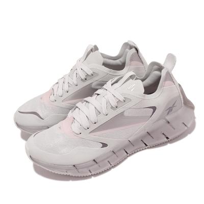 Reebok 慢跑鞋 Zig Kinetica Horizon女鞋 海外限定 輕量 透氣 路跑 避震 健身 灰 粉 FW6279
