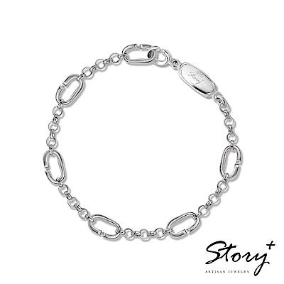STORY故事銀飾-Charm扣扣系列-基礎手鍊(白K金款)