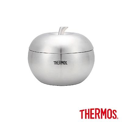 THERMOS膳魔師雙層不鏽鋼蘋果餐碗0.9L(Z-SBOWL-SBK)