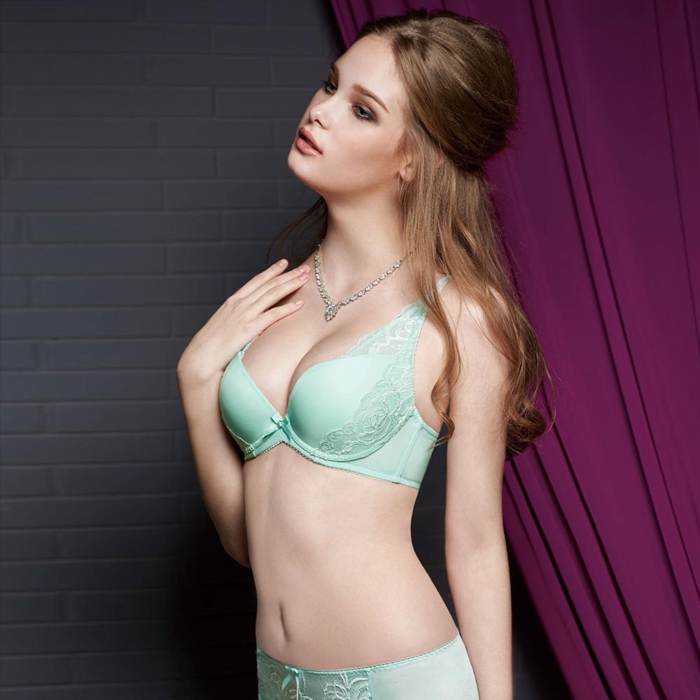 曼黛瑪璉 集中穩定V極線內衣  B-E罩杯(甜柚綠)