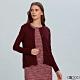 G2000素面長袖針織外套-紫紅色 product thumbnail 1