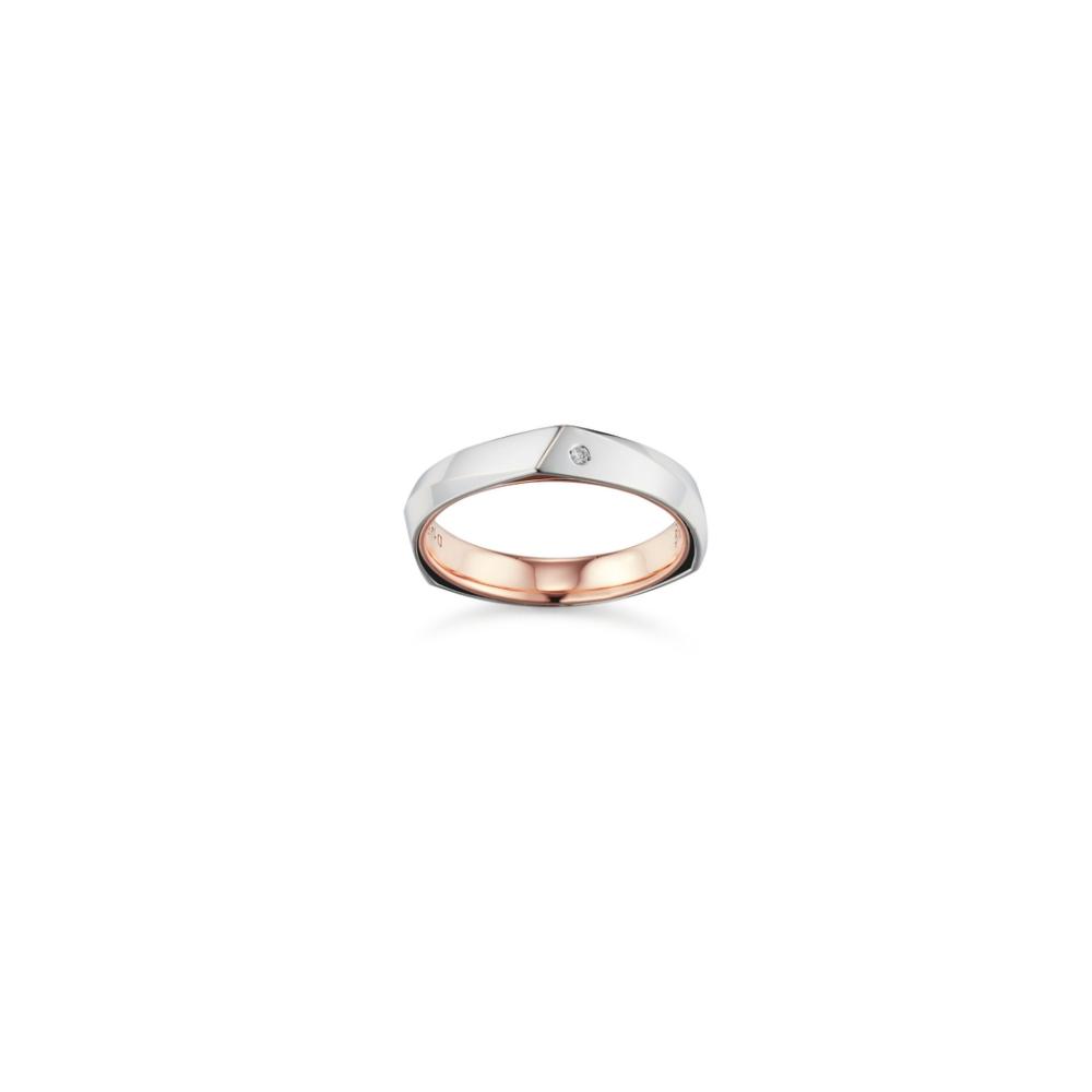 STONEHENGE 斯通亨奇  蜜鑽系列14K合金鑽石對戒(女) 國際圍11號