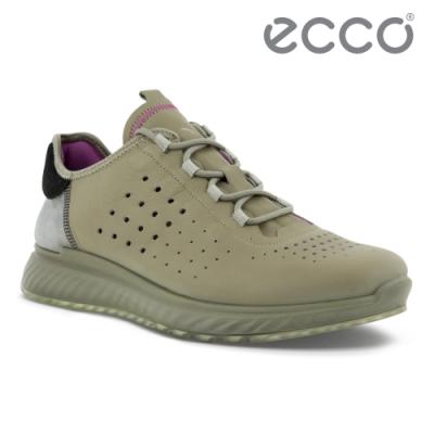 ECCO ST.1 M 適動透氣運動休閒鞋 男鞋 草綠色/黑色/鴿子灰