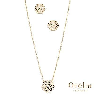 Orelia 英國倫敦 皇冠脈輪項鍊耳環禮盒