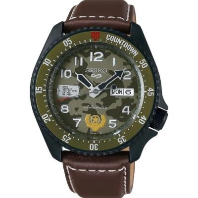SEIKO 5 Sports 快打旋風5聯名限量機械錶 GUILE 蓋爾 (4R36-08V0J/SRPF21K1)/42.5mm