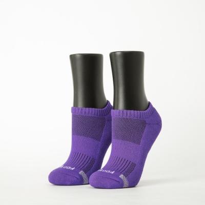 Footer除臭襪-單色運動逆氣流氣墊船短襪-六雙入(淺灰*2+紫*2+藍*2)