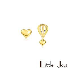 Little Joys 原創設計品牌 鏤空熱氣球金色短款耳釘 925銀鍍金