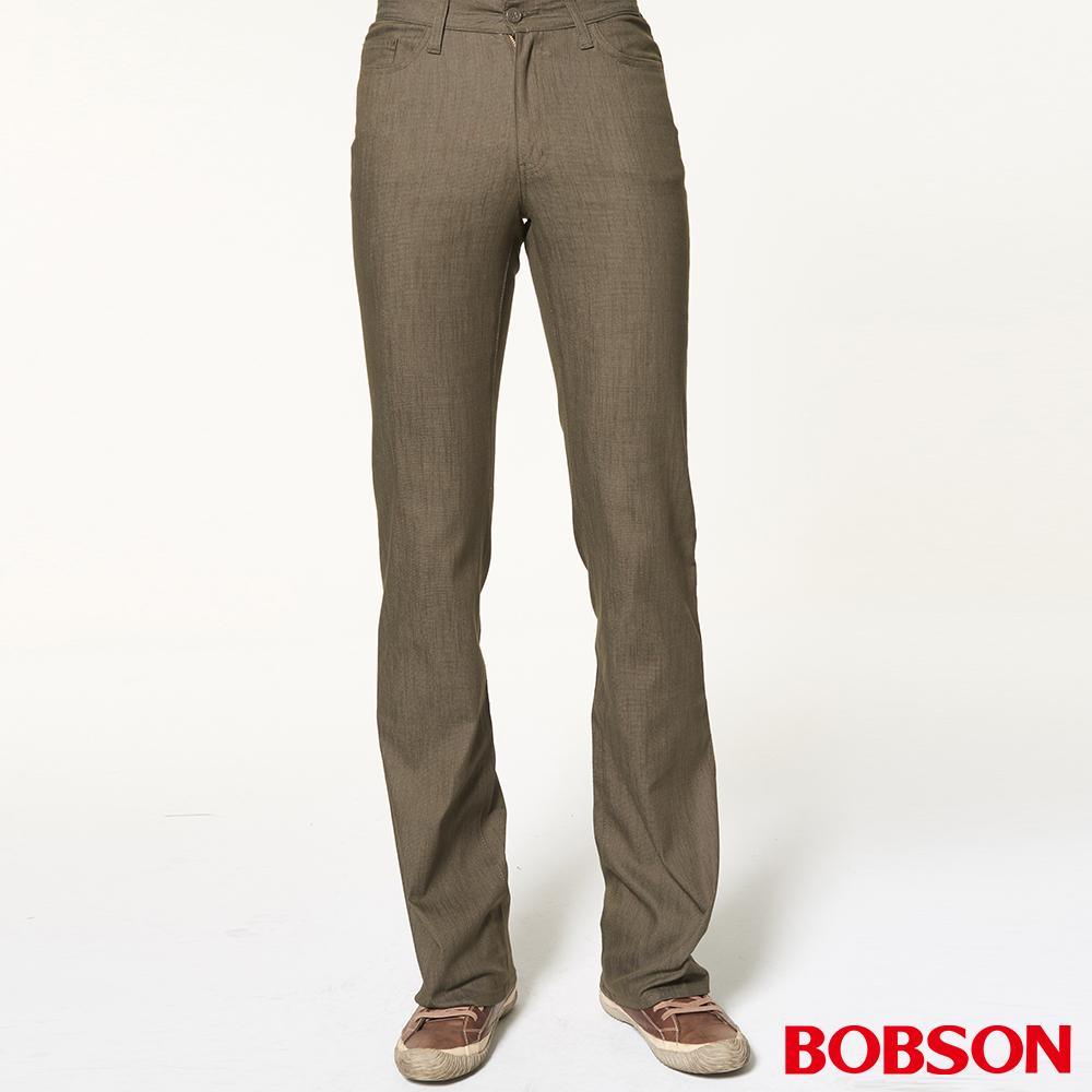 BOBSON 男款伸縮綠色喇叭褲
