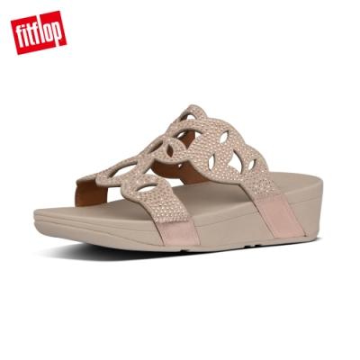 FitFlop ELORA CRYSTAL SLIDES水鑽造型涼鞋-女(玫瑰金)