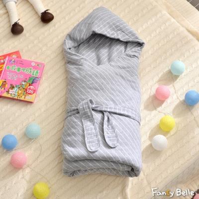 義大利Fancy Belle 斯卡線曲-灰 色坊針織兒童包巾兩用被(90*90CM)