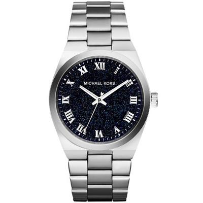 Michael Kors 璀璨繁星經典大錶盤腕錶-藍/38mm