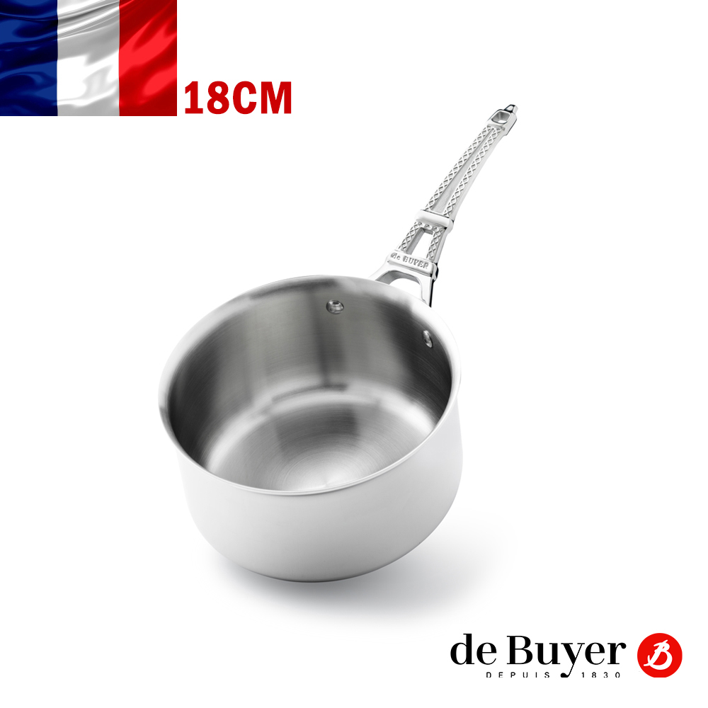 de Buyer畢耶 藍嶽頂級系列-鐵塔柄調理鍋18cm