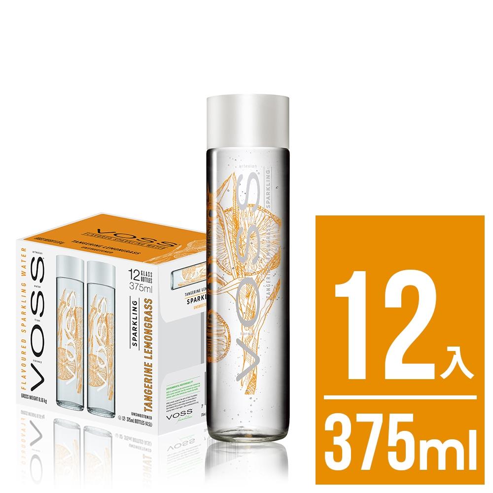 VOSS挪威芙絲 柑橘檸檬草風味氣泡水(時尚玻璃瓶12入x375ml)