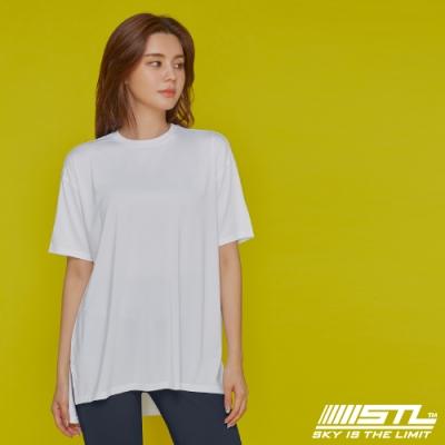 STL yoga Metro NY SS 韓國瑜珈 運動機能 地鐵 蓋臀長版寬鬆短袖上衣 White棉花白