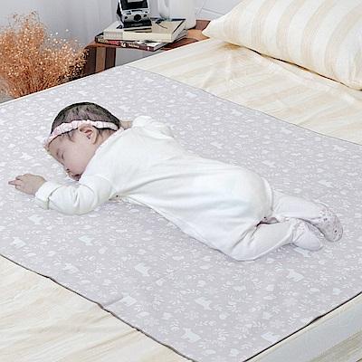 米夢家居-台灣製造-全方位超防水止滑保潔墊/生理墊/尿布墊-嬰兒75x90cm-北極熊
