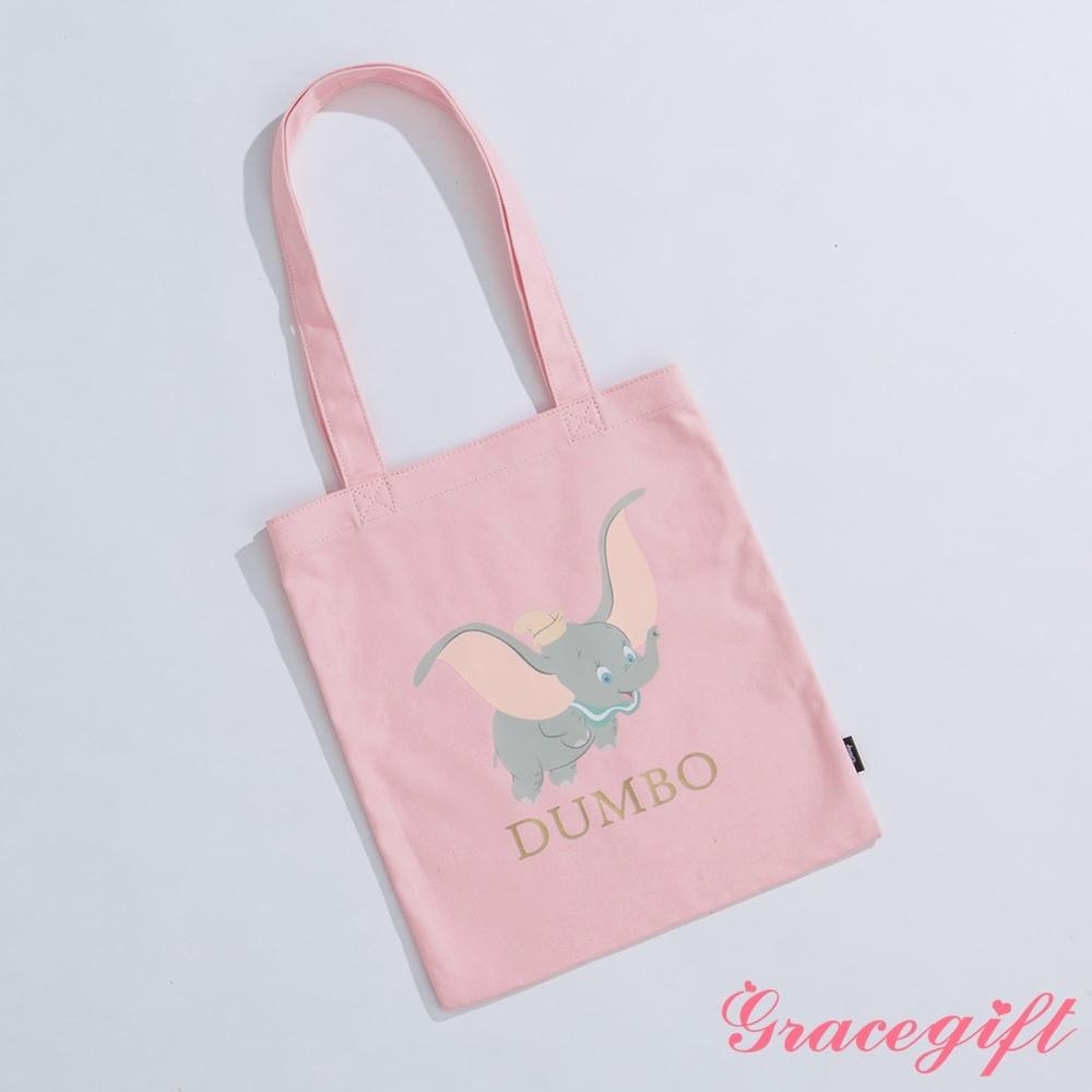 Disney collection by gracegift-櫻花小飛象圖案帆布袋 粉 product image 1