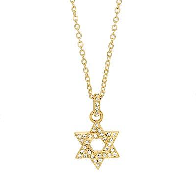 SWAROVSKI 施華洛世奇 大衛之星水晶金色項鍊