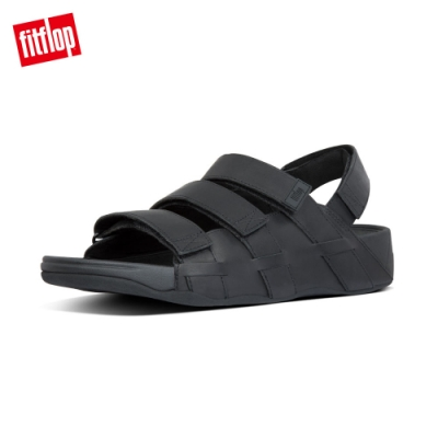 FitFlop ETHAN BACK STAP SANDALS 魔鬼氈後帶涼鞋 黑