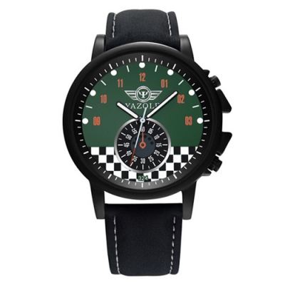 YAZOLE 亞卓倫324-競速玩家-極限仿秒盤賽車風手錶