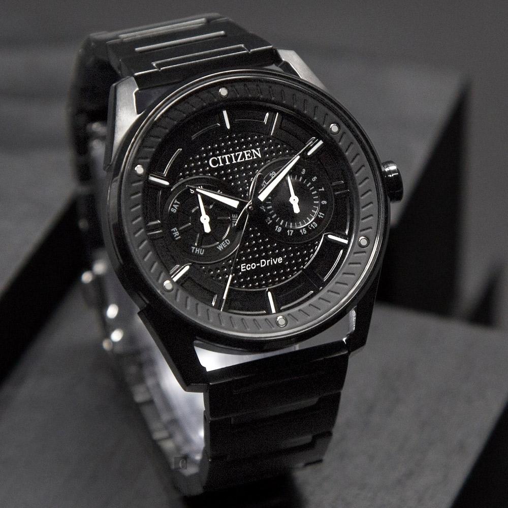 CITIZEN 星辰 光動能渦輪日曆手錶-42mm BU4028-85E