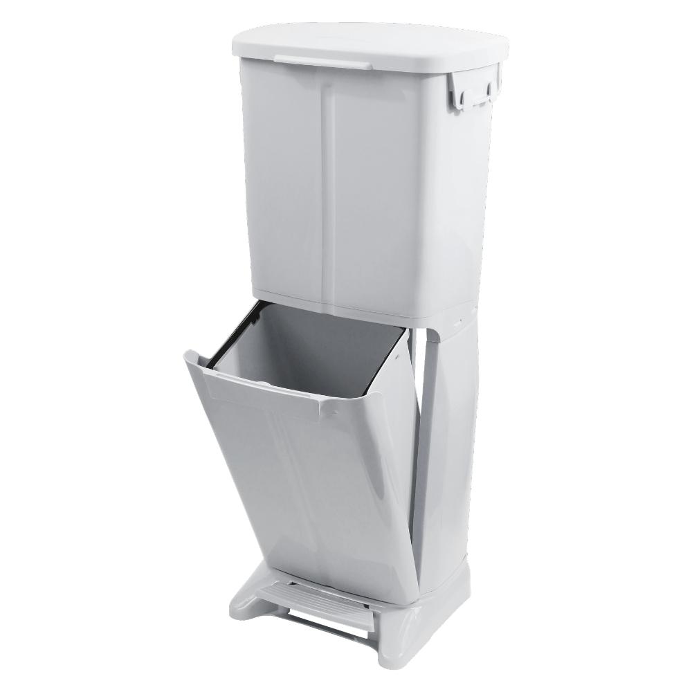 TRENY 雙層分類垃圾桶33L-灰