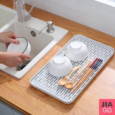 JIAGO 雙層瀝水盤/托盤茶盤水果盤