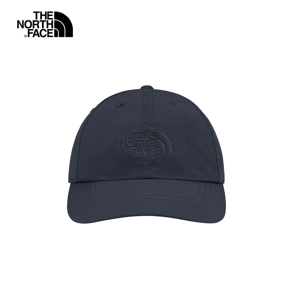 The North Face北面男女款深藍色防曬透氣LOGO運動帽|CF7WH2G