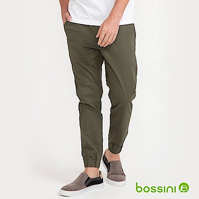 bossini男裝-輕鬆束口褲01綠