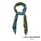 LULU GUINNESS POLKA DOT LEAVES 方形絲巾(海軍藍) product thumbnail 1