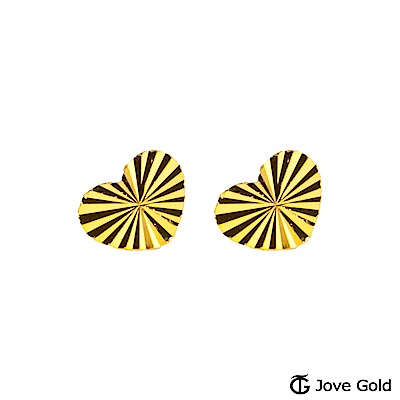 Jove gold 悸動黃金耳環-大