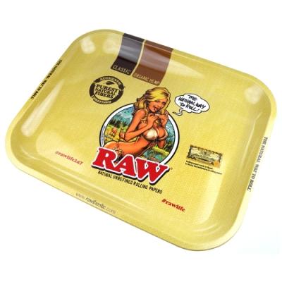 RAW-西班牙進口-GIRL TRAY-金屬製捲煙盤/鐵盤/收納盤/托盤(大款)