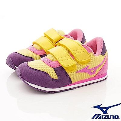 MIZUNO童鞋 透氣輕量運動鞋款 ON73365黃紫(中大童段)