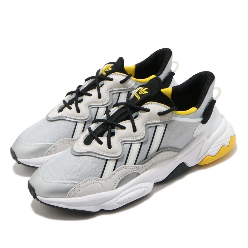 adidas 休閒鞋 OZWEEGO 流行款 男鞋 海外限定 愛迪達 三葉草 反光 穿搭推薦 銀 白 FV9649