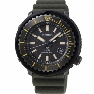 SEIKO PROSPEX 小鮪魚太陽能潛水錶(SNE543P1)46mm V157-0DD0SD