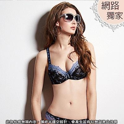 【曼黛瑪璉】輕身活─透澈款 C-F罩杯內衣(紫暮藍)