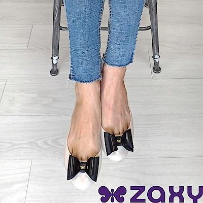 Zaxy 巴西 女 POP BOW 法式蝴蝶結娃娃鞋(米白)