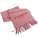 COACH乾燥玫瑰粉素色大字羊毛圍巾(183x31cm)
