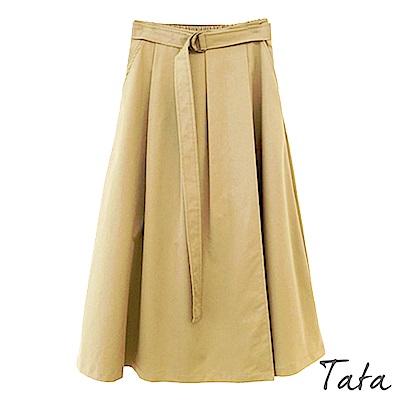金屬扣環腰帶鬆緊腰裙 TATA