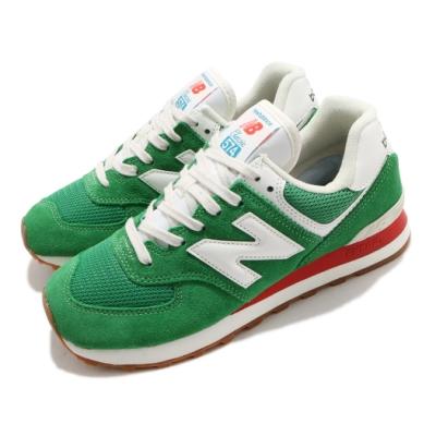 New Balance 休閒鞋 574 Rainbow Pack 男女鞋 紐巴倫 基本款 簡約 麂皮 情侶穿搭 綠 白 ML574HE2D