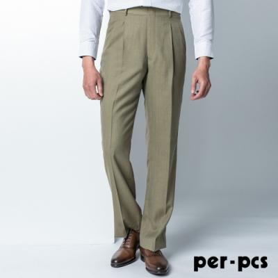 per-pcs 紳士品味打摺西裝褲_淺軍綠(87221)